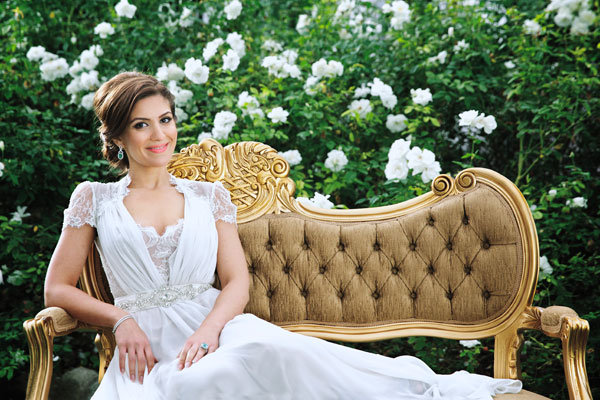 bride in wedding dress