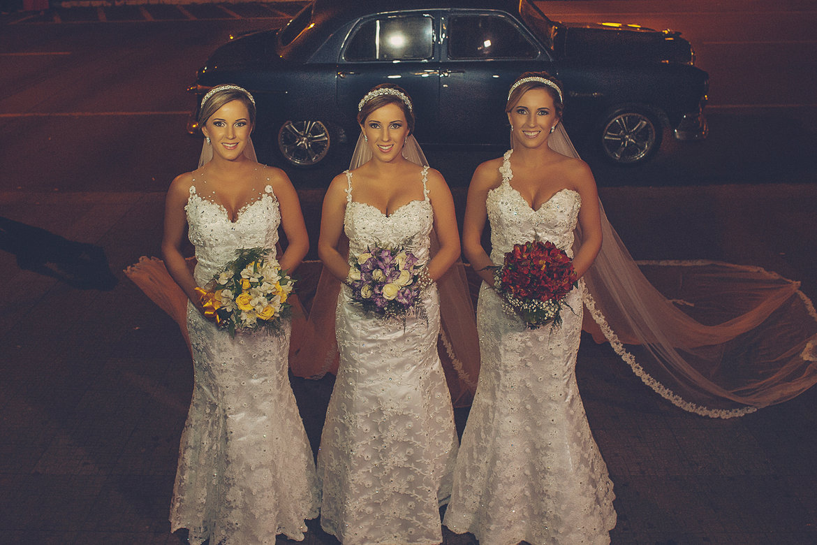 triplet wedding in brazil