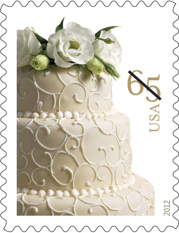 usps wedding cake stamp