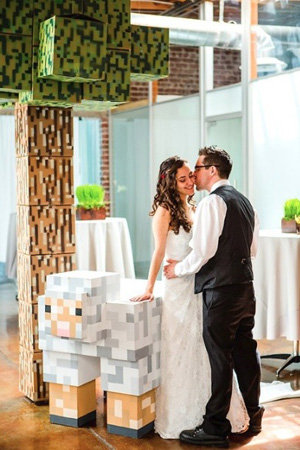 minecraft theme wedding
