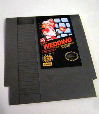nintendo wedding invitation