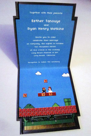 nintendo super mario bros invitation