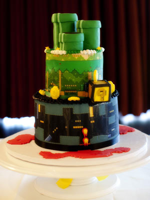 nintendo wedding cake