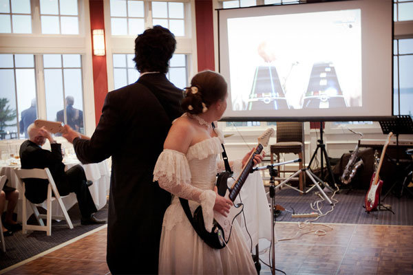 rock band theme wedding