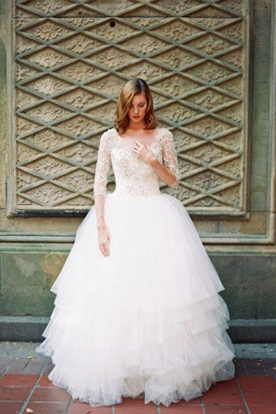 Non-Strapless Wedding Gowns are Back!  BridalGuide