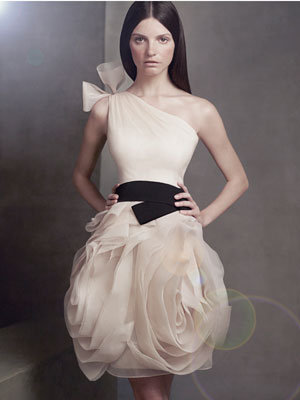 Short Dress on Short Black And White Vera Wang     Do You Think A Short Wedding Dress