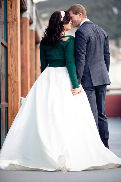 cropped sweater for winter wedding