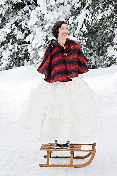 cute jacket for winter wedding