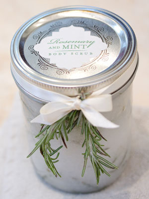 rosemary mint body scrub