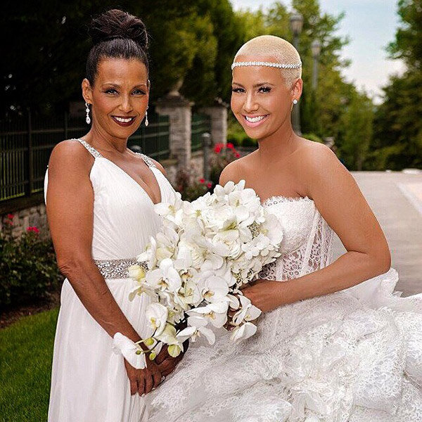 amber rose wedding dress