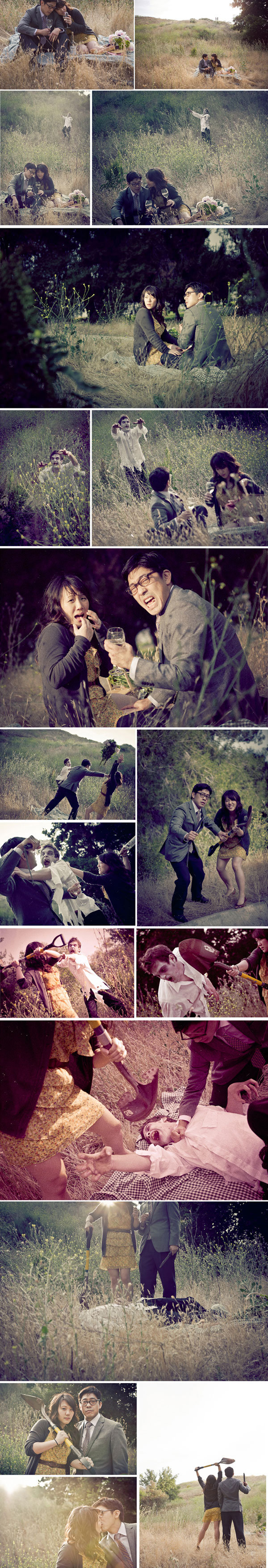 zombie engagement photos