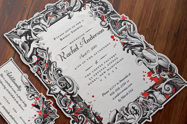 zombie wedding invitation