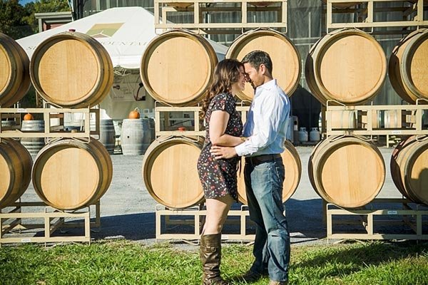couple at the vineyard