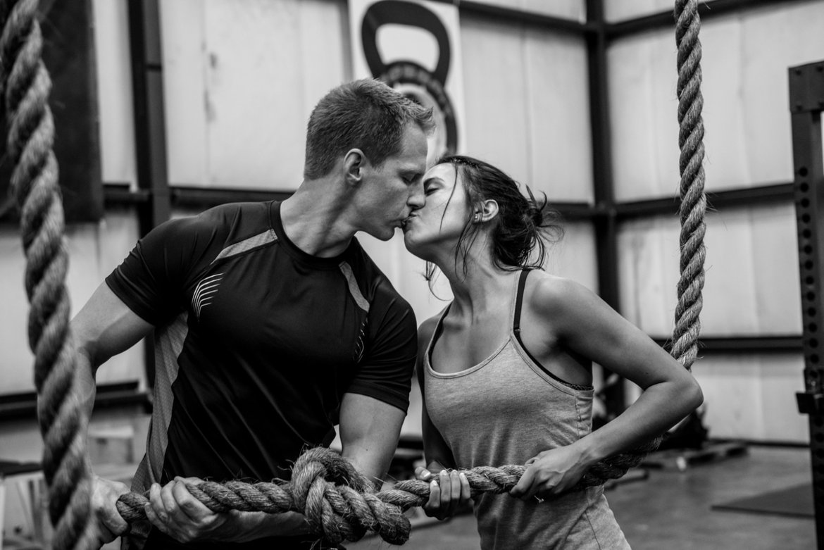 crossfit engagement photo