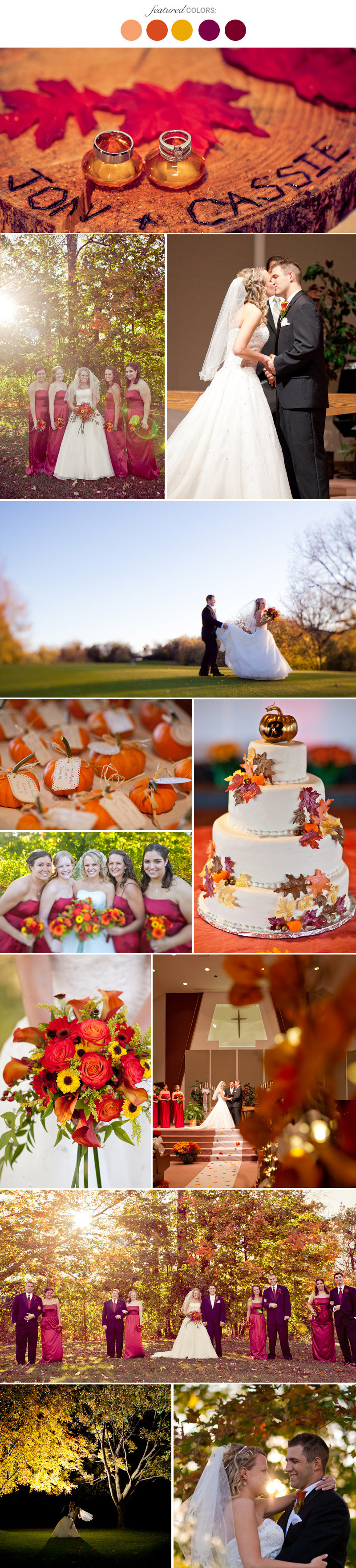 fall wedding color schemes fall wedding colors 25 combinations you ll bridalguide 27737