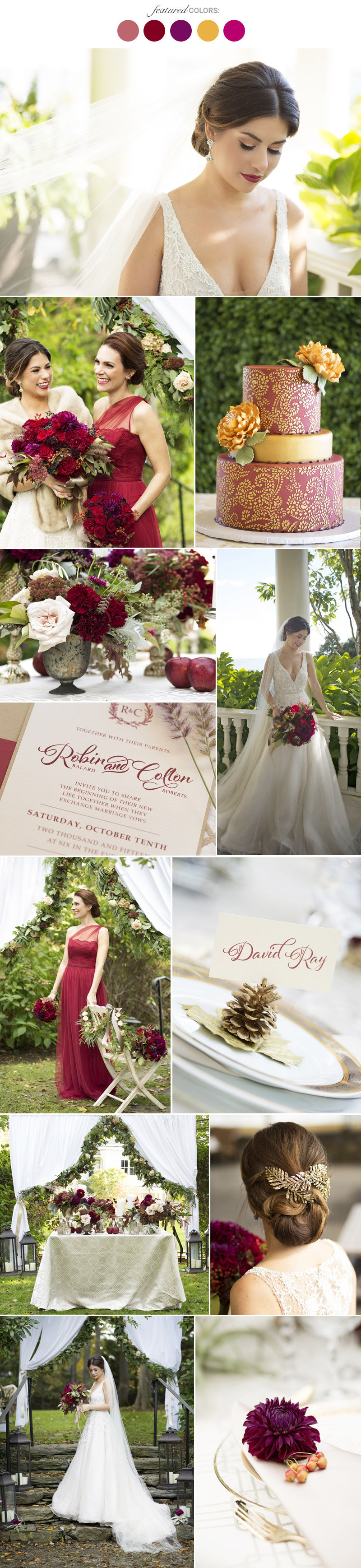 Fall wedding colors 25 combinations youll love bridalguide fall wedding colors junglespirit Gallery