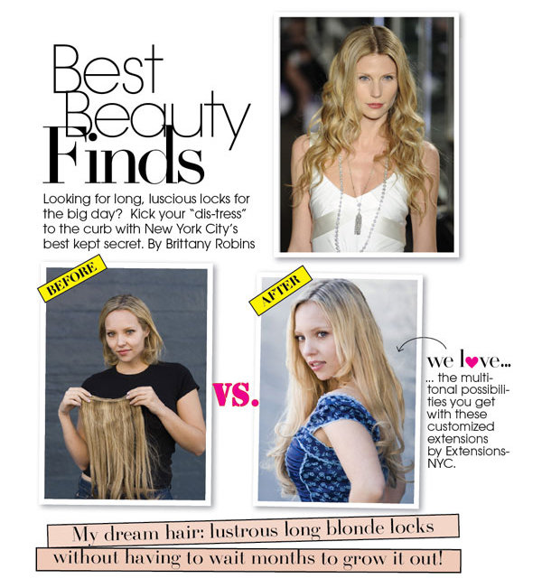 Best Beauty Finds Natural Looking Clip In Hair Extensions Bridalguide