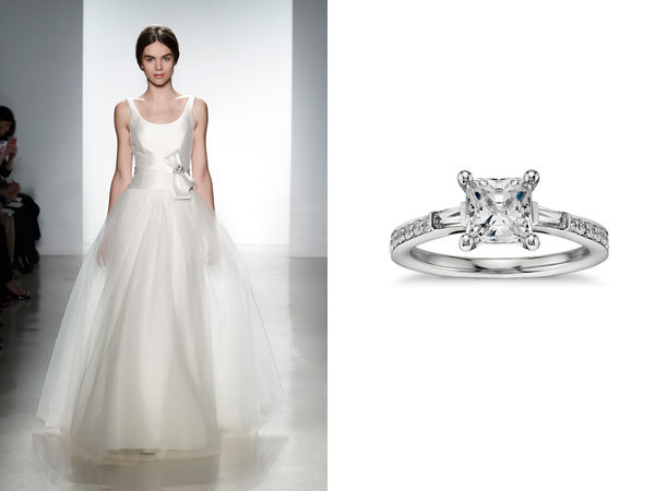 Designer Gowns Blue Nile Rings to Match BridalGuide