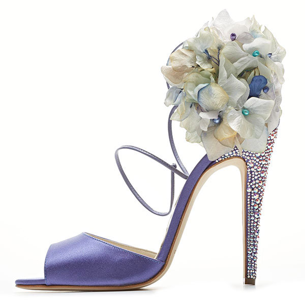 funky blue wedding shoes suede brian atwood | OneWed.com
