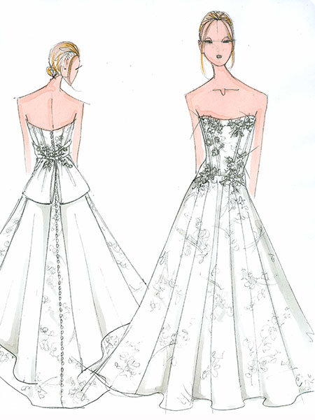melissa sweet wedding gown sketch