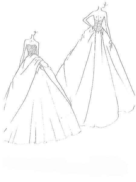 snooki wedding dress sketch