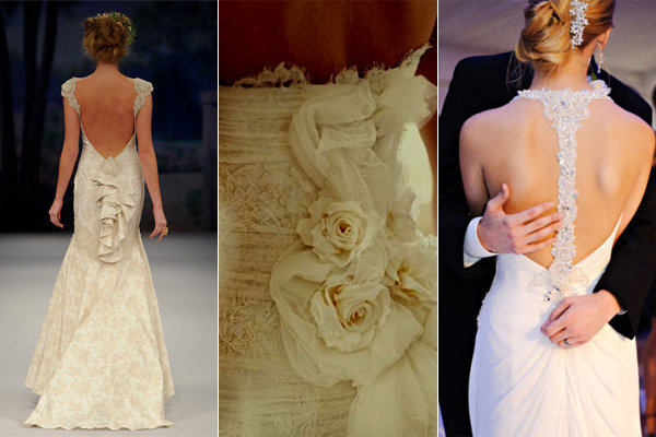 embellished wedding dress backs