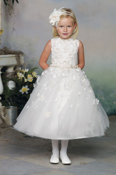 mon cheri flower girl dress