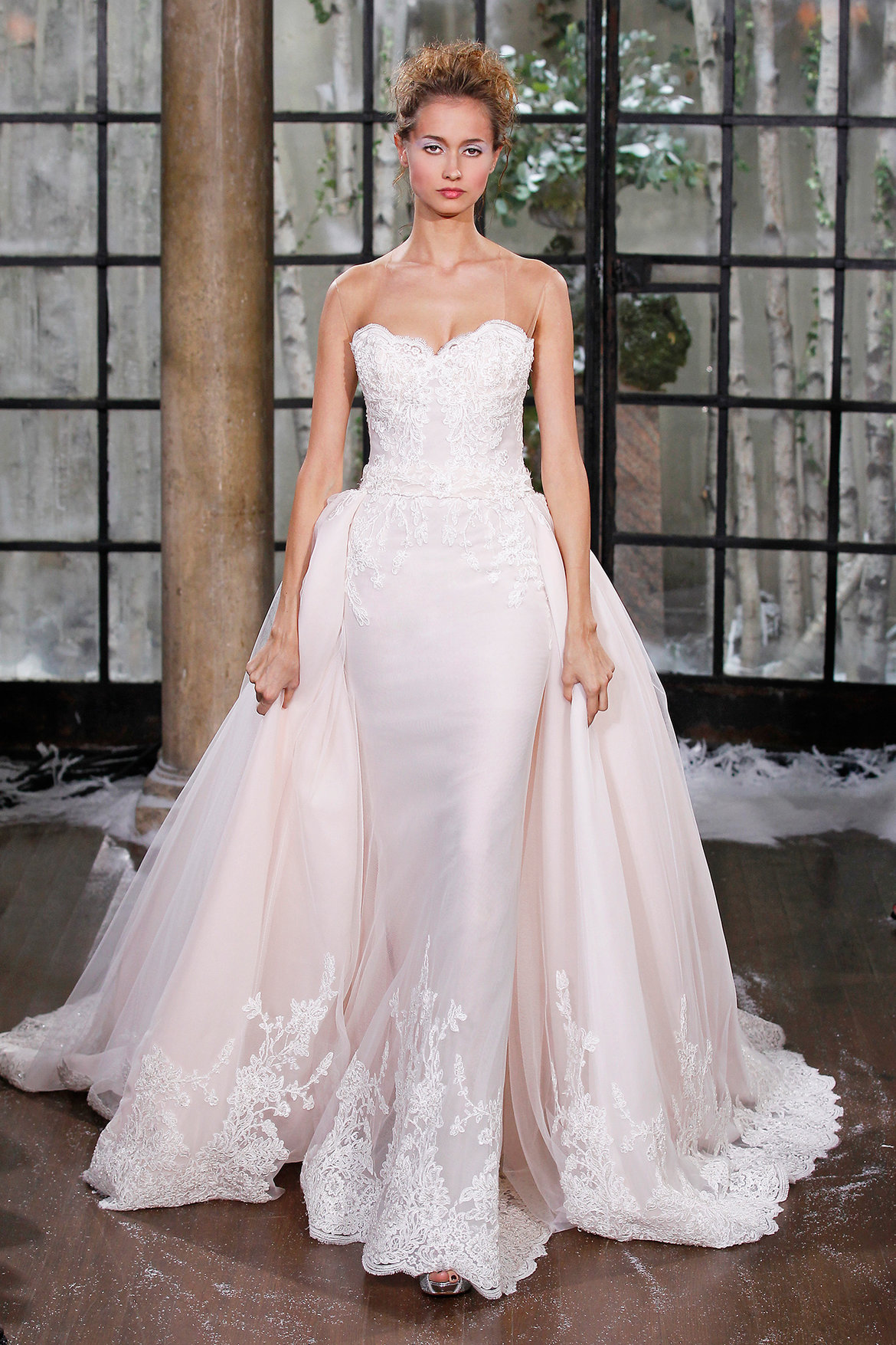 The biggest gown trends from the 2015 bridal runway shows for Wedding dress with overskirt