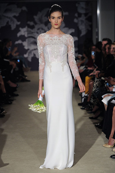 carolina herrera wedding gown