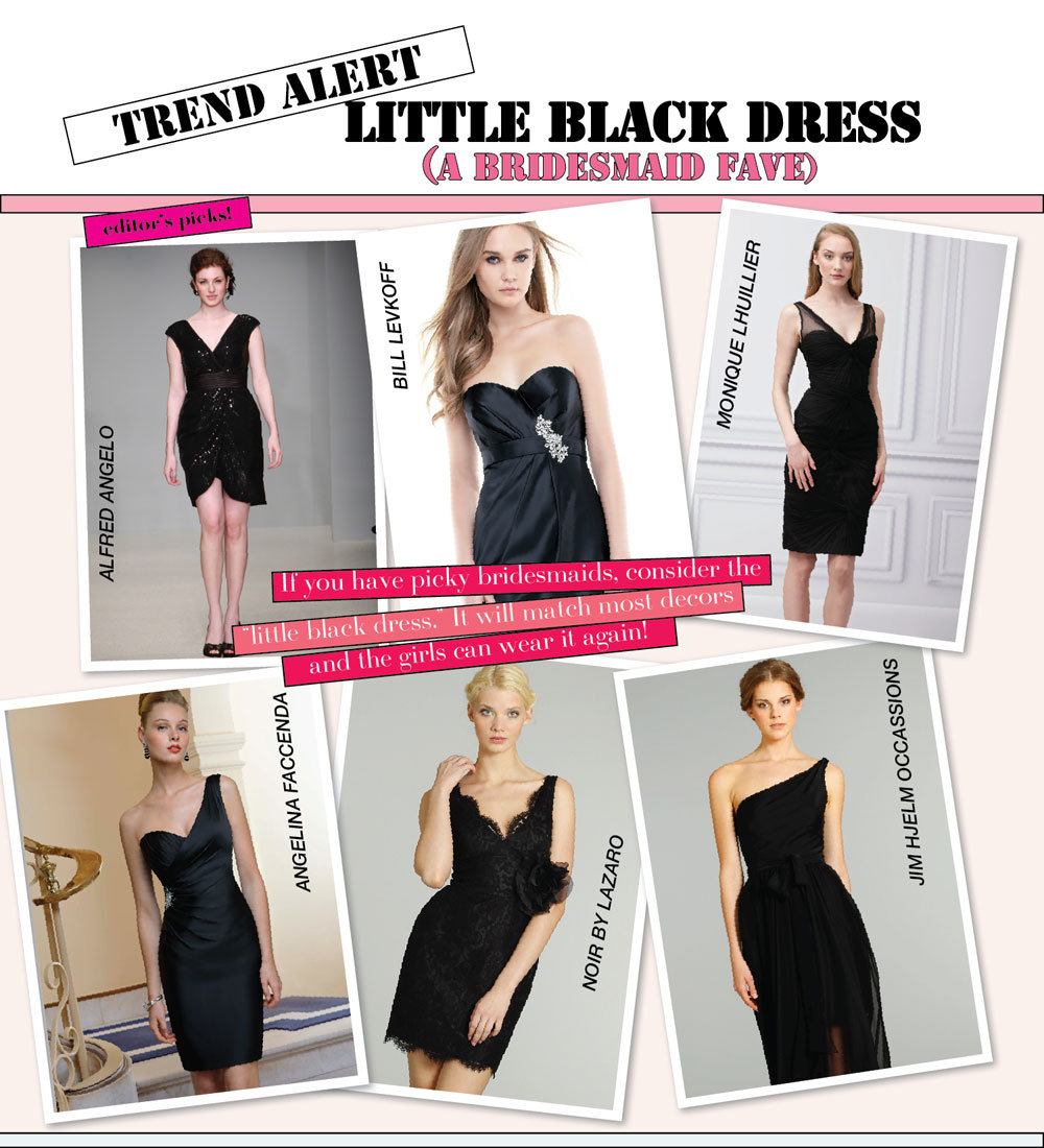 Trend alert the little black bridesmaid dress bridalguide little black dress bridesmaid dresses ombrellifo Gallery