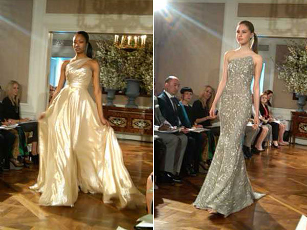 romona keveza metallic wedding gowns