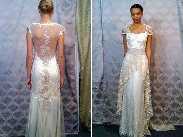Marchesa wedding dress, Marchesa and Cap sleeves on Pinterest