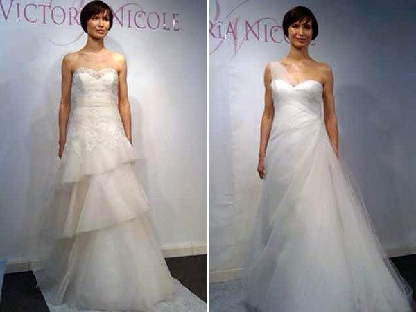 victoria nicole wedding dresses left bridalguidemag Romantic organza