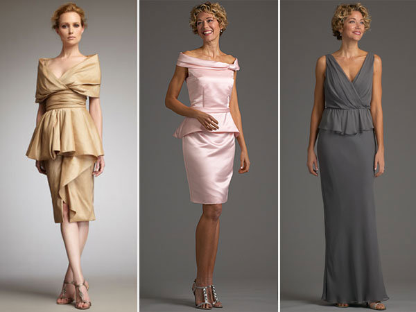 mother of the bride peplum dresses