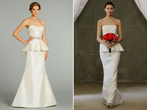 peplum wedding dresses