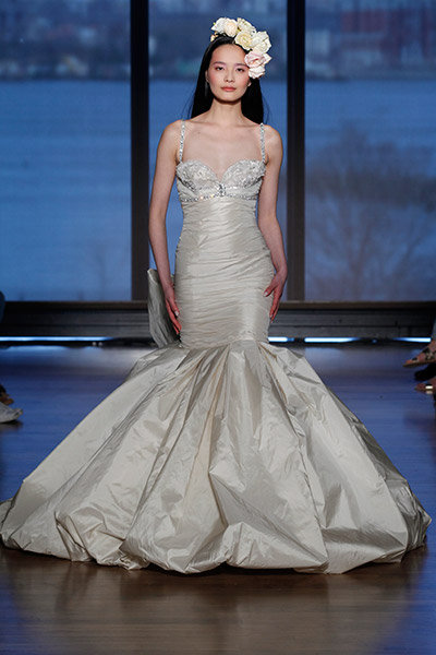 metallic ines di santo wedding dress