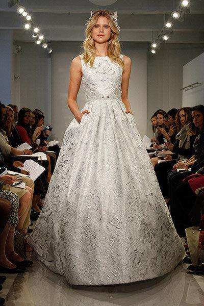 Get the look piper perabos metallic wedding dress bridalguide metallic theia wedding dress junglespirit Choice Image