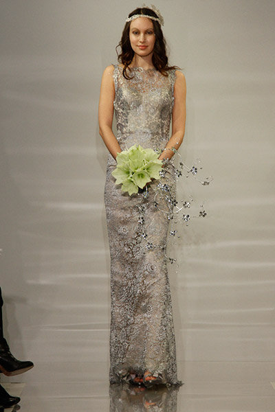 metallic theia wedding dress