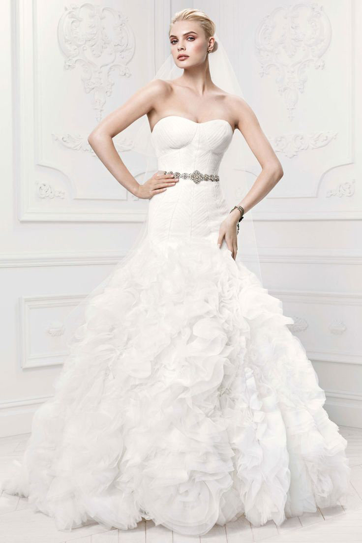The 25 most popular wedding gowns of 2014 bridalguide zac posen for davids bridal wedding gown style zp345021 junglespirit Images