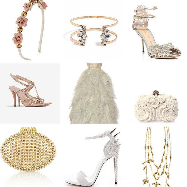 Pura Lopez Bridal Pura Lopez Gold Studded High