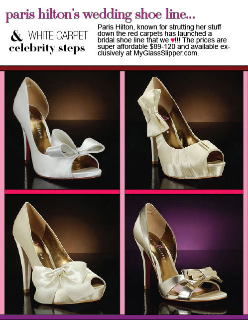 paris hilton's wedding shoe line: paris hilton