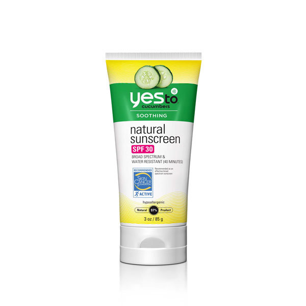 say yes to cucumber sunscreen