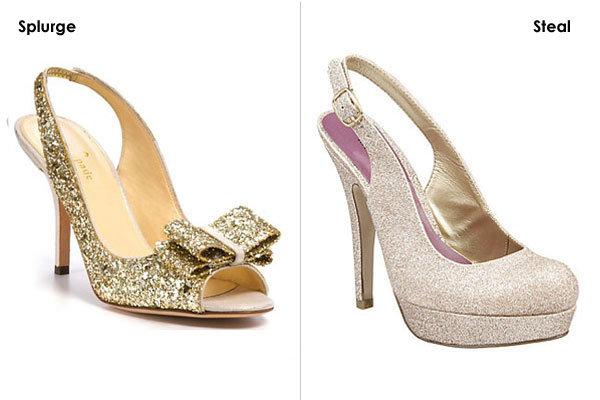 hot wedding shoes splurge vs steal bridalguide