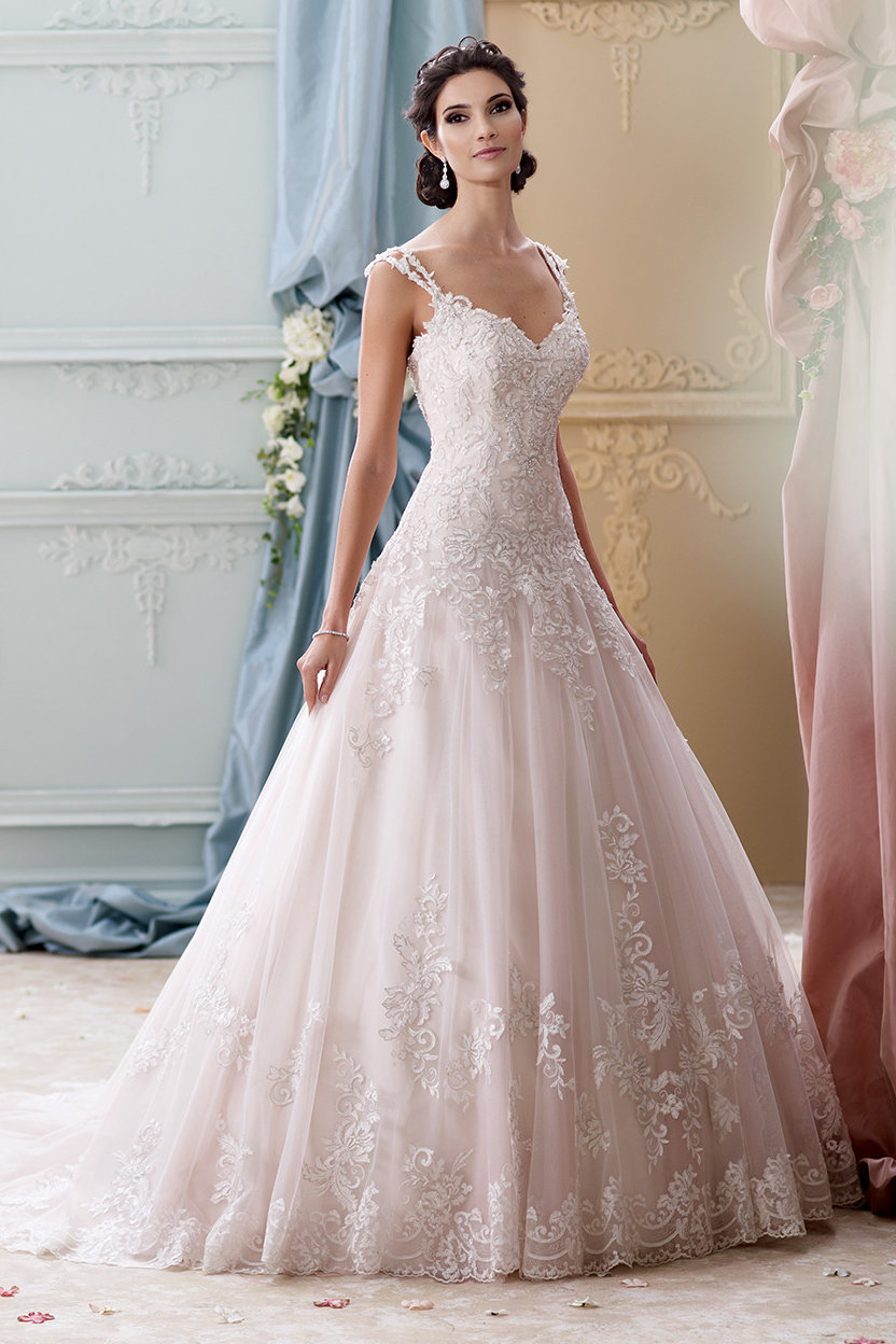 The 25 most popular wedding gowns of 2015 bridalguide david tutera for mon cheri ombrellifo Image collections