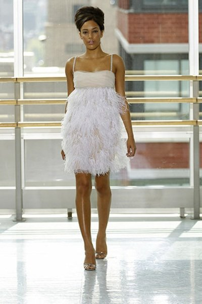 10 fun flirty reception dresses bridalguide arielle by rivini reception dress junglespirit Choice Image