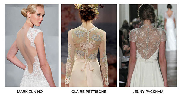 wedding gowns with illusion backs