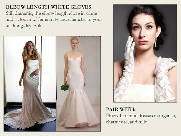 elbow length white gloves