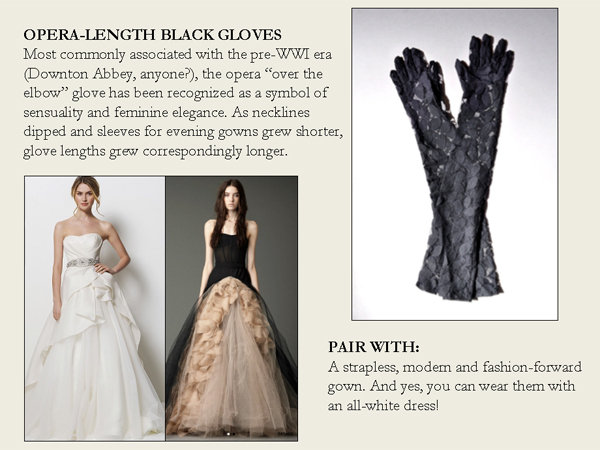 opera length black gloves