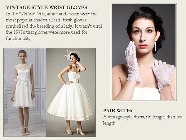 vintage style wrist gloves