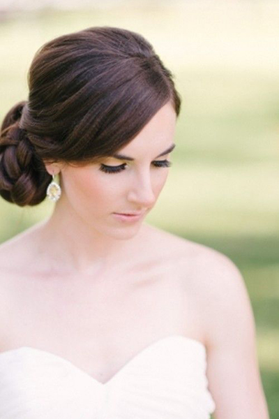 braided bridal hairstyle